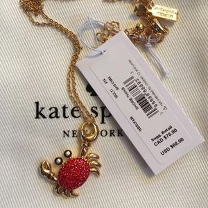 NWT $68 Kate Spade Crab Necklace